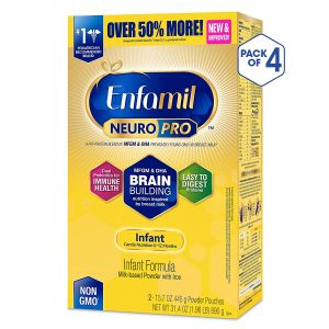 Enfamil NeuroPro Infant Formula - Brain Building Nutrition Inspired by Breast Milk - Powder Refill Box, 31.4 oz