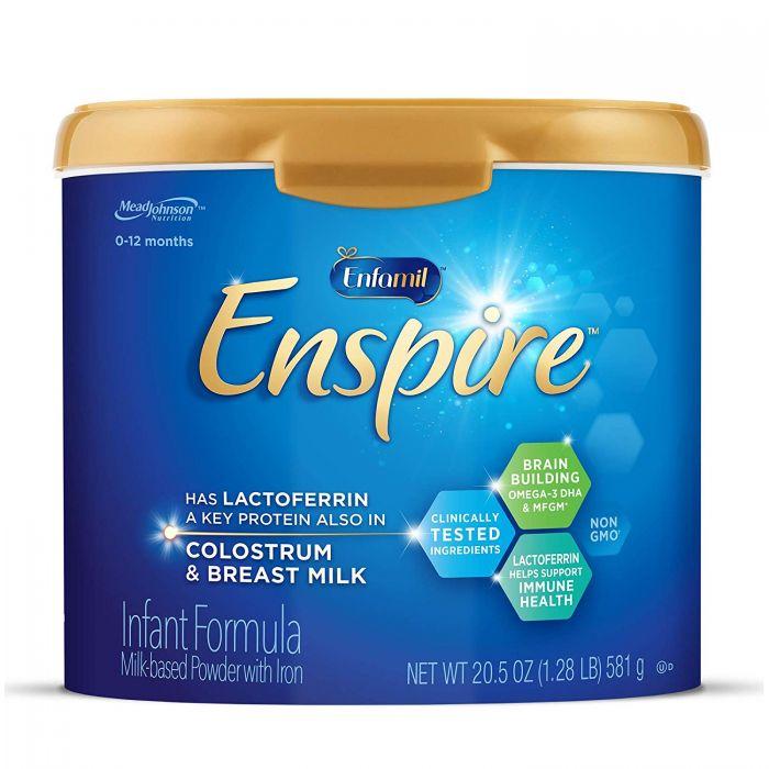 Enfamil Enspire Baby Formula Milk Powder, 20.5 Ounce (Pack of 1), Omega 3 DHA, Probiotics, Immune & Brain Support